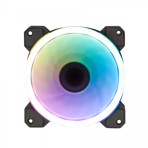 Fan Case Xigmatek GALAXY ELITE - EN40230 - (CY120) - RGB: 2 SIDE RING (PACK x1, WHITE BOX)