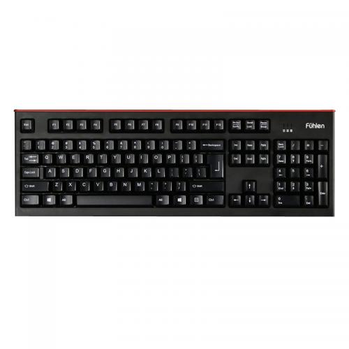 Bàn phím Fuhlen L500S Gaming Pro màu đen viền đỏ