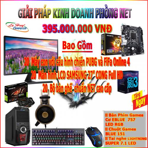 DỊCH VỤ PHÒNG GAME VIP 2 - MAIN GIGABYTE B360M D2V - CPU Core I3 8100 - RAM DDR4  GEIL 8GB Bus...