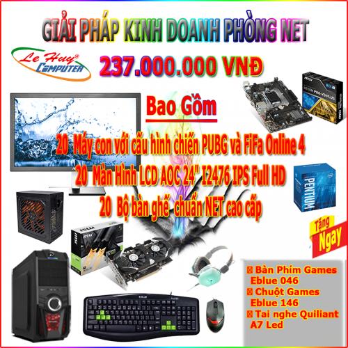 DỊCH VỤ PHÒNG GAME VIP 5 - MAIN MSI H110M PRO VD PLUS - CPU Pentium G4400 - RAM DDR4  4GB Bus 2400...