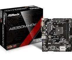 Bo Mạch Chủ - Mainboard Asrock AB350M-HDV (Chipset AMD B350/ Socket AM4/ VGA onboard) (AMD)