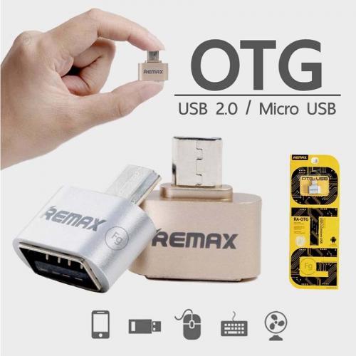 Đầu chuyển đổi Remax OTG USB Micro - MÀU VÀNG