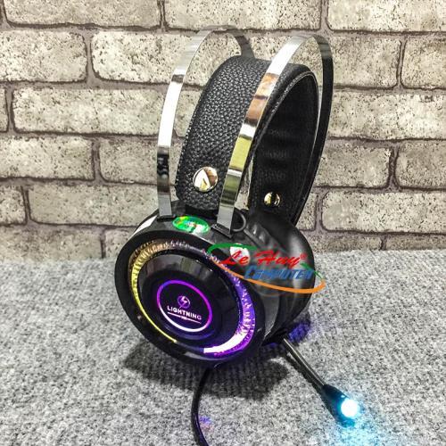 Tai Nghe Lightning V6S 7.1 USB - Led RGB (JACK cắm USB)