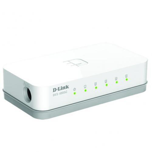 Thiết bị chuyển mạch Switch D-Link DES-1005C 5 Port 10/100MBPS