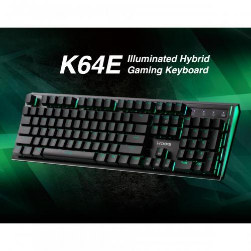 Bàn phím I-Rocks IRK K64E-NBK LED 7 MÀU