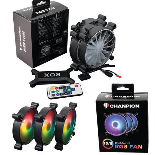 Fan Case CHANPION SLIM RGB ( Bộ 3 fan RGB có hub + controler )