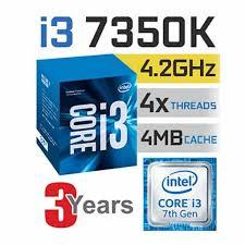 CPU Intel Core i3-7350K Processor (4.20Ghz, 4M)
