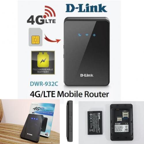 Thiết bị mạng-Bộ phát sóng Wifi di động 3G 4G D-Link DWR-932C/A1 (150Mbps)