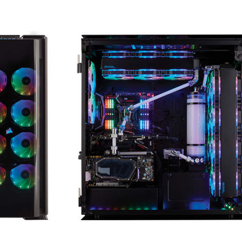 Vỏ máy tính Corsair 1000D - Super Tower Case - Full Tempered Glass - Aluminum