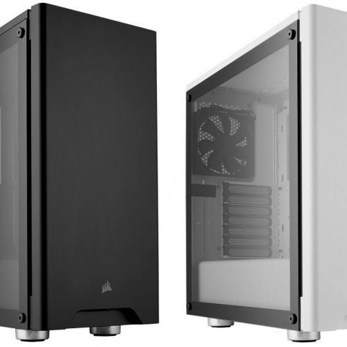 Vỏ máy tính Corsair 275R Tempered Glass Black/White