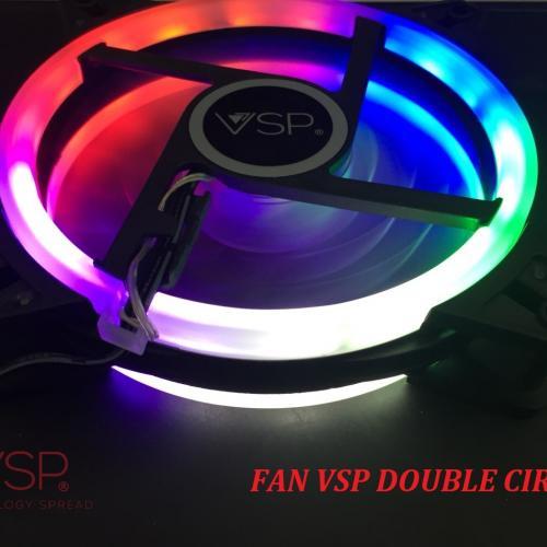 Fan Case VSP -12cm- LED DOUBLE CIRCLE