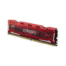 Ram Máy Tính Crucial Ballistix Sport LT 4GB DDR4 2666 Heatspreader (BLS4G4D26BFSE) (Đỏ)