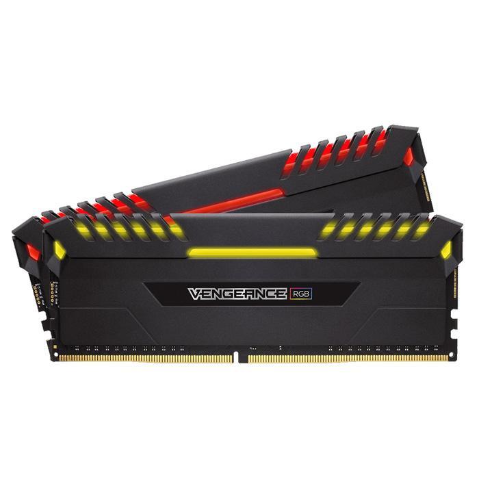 Ram Máy Tính Corsair DDR4 16GB (2x8GB)  Bus 2666 C16 Vengeance RGB LED