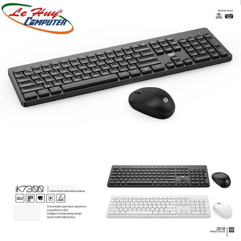 Combo Bàn phím & Chuột máy tính không dây FD IK7300 - Chính Hãng Cao Cấp
