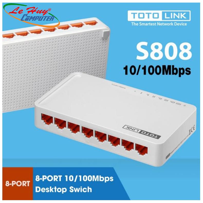 Thiết bị chuyển mạch Switch TOTOLINK S808 – Hàng Chính Hãng