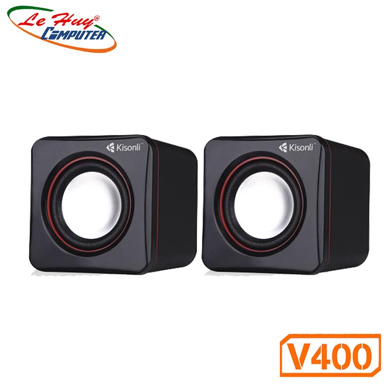Loa vi tính 2.0 Kisonli V400 - Hàng Chính Hãng