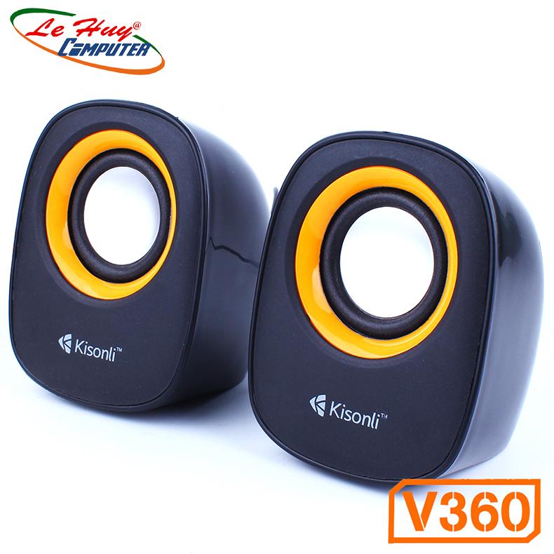 Loa vi tính 2.0 Kisonli V360 - Hàng Chính Hãng