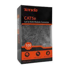 Đầu bấm dây mạng RJ45 Tenda Cat5e UTP TEH5E010 chống cháy nổ, chống nhiễu ( 100c/ hộp)