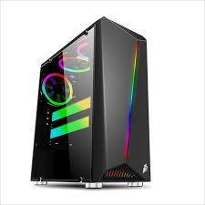 Vỏ máy tính 1STPLAYER R3 Rainbow-kính cường lực 1 bên hông, với cả dãy led RGB phía trước(CHƯA GỒM FAN)