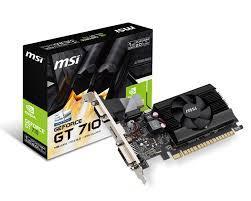 Card Màn Hình - VGA MSI GT 710 2GD3 LP (Fan)
