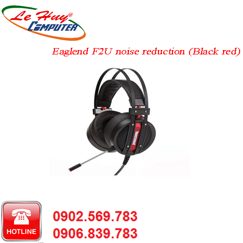 Tai nghe cao cấp Eaglend F2 noise reduction (Black red) F2 ENC