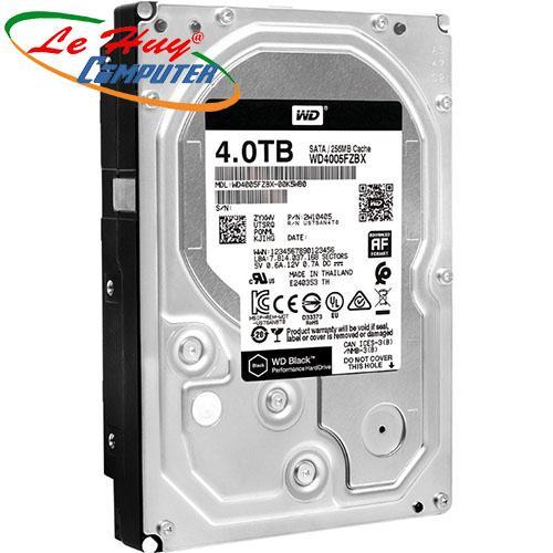 Ổ Cứng HDD Western 4TB Black - SATA (6Gb/s) - 7200 Rpm,256M-WD4005FZBX