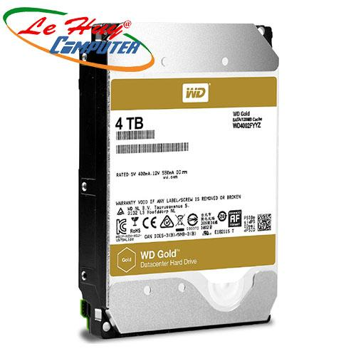 Ổ Cứng HDD Western  ENTERPRISE 4TB - Sata 3 (6Gb/s), 7200 rpm, Cache 256MB (Gold) - WD4002FYYZ