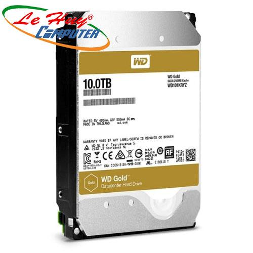 Ổ Cứng HDD Western ENTERPRISE 10TB RED- Sata 3 (6Gb/s), 7200 rpm, Cache 256MB (Gold) - WD101KRYZ