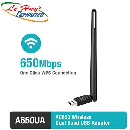 Bộ thu sóng Wifi TotoLink A650UA- Card mạng không dây thu sóng wifi chuẩn AC650