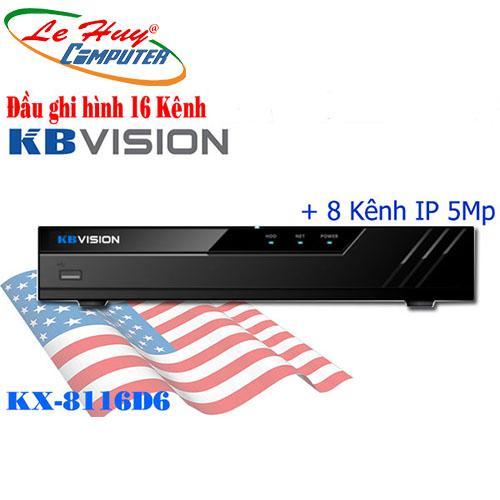 Đầu ghi hình 16 kênh 5 in 1 KBVISION KX-8116-D6