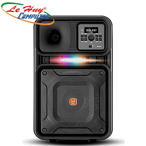 Loa Kéo Di Động BD-H127H(3 tấc)   (USB+TF+BT+FM) + 2Micro đi kèm – 180W