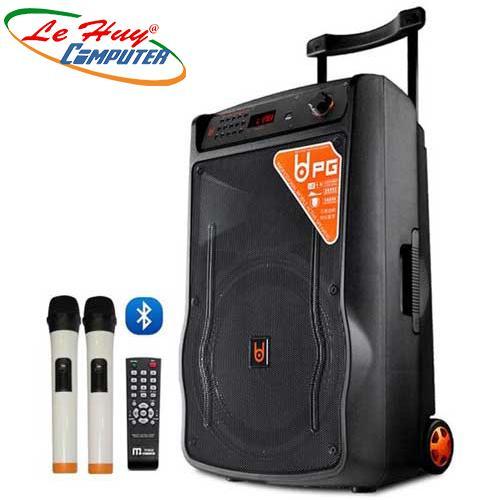 Loa Kéo Di Động BD-H1568YS(3 tấc)  (USB+TF+BT+FM) + 2Micro đi kèm – 300W