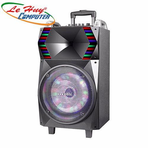 Loa Kéo Di Động A/D/S BL-T12B(2.5 tấc)  (USB+TF+BT+FM) + 2Micro đi kèm – 180W