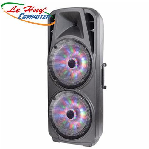 Loa Kéo Di Động A/D/S TC-215F(4 tấc)  (USB+TF+BT+FM) + 2Micro đi kèm – 200W