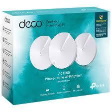 Thiết bị mạng - Router Wifi Deco M5 - Bộ 3 thiết bị Wifi Mesh AC1300 - Có thể mở rộng hệ thống