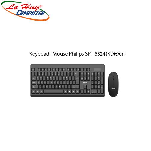 Combo Bàn phím & Chuột máy tính Philips SPT 6324(KD)Đen