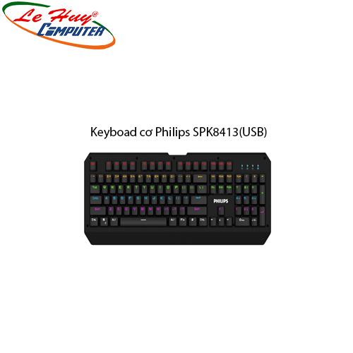 Keyboad cơ Philips SPK8413(USB)-Phím cơ Blue Swicth+VAT50K