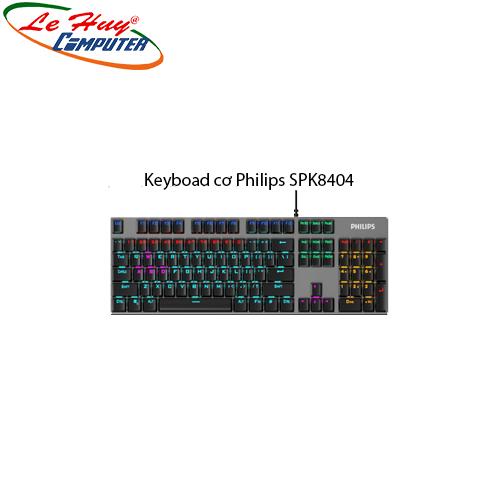 Keyboad cơ Philips SPK8404 (USB)-Phím cơ Blue Swicth