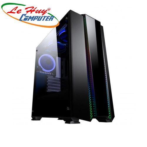 Vỏ máy tính Chanpion POLARIS 2 mặt kính cường lực - Tặng kèm 1 fan RGB
