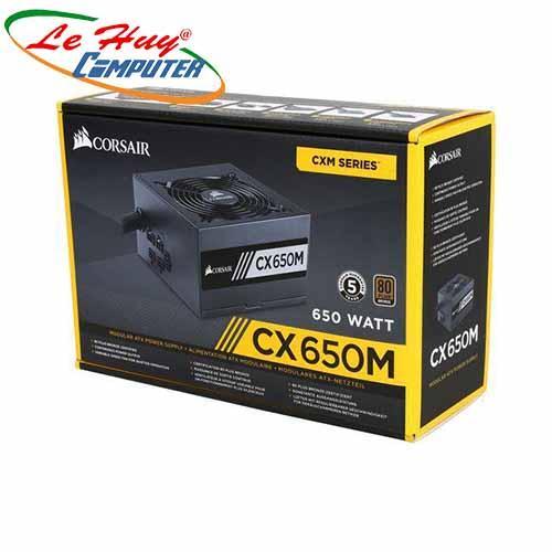 Nguồn máy tính Corsair CX650M 650W - 80 Plus Bronze - New - Semi Modul