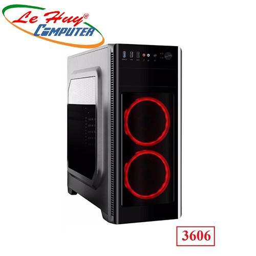 Vỏ máy tính VSP 3606 SERVER - GAMING NẮP HÔNG TRONG SUỐT