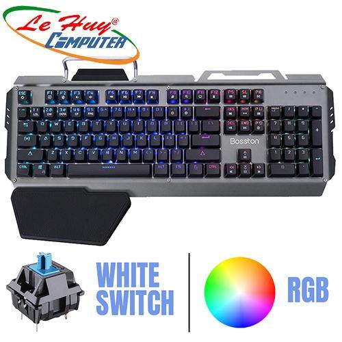 Bàn phím cơ Bosstonn MK918 USB-PHÍM CƠ LED RGB GAME  Chính Hãng
