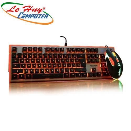 Bàn phím Newmen GM200 LED phím giả cơ + led 7 màu tặng mouse pad