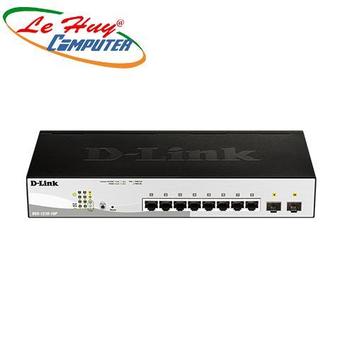 Thiết bị chuyển mạch Switch D-Link DGS-1210-10P 8-port UTP 10/100/1000Mbps (POE) + 2P SFP