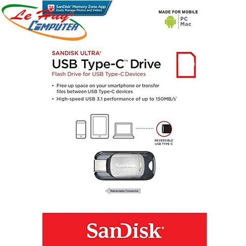 SANDISK 16GB CZ450 (USB 3.1)