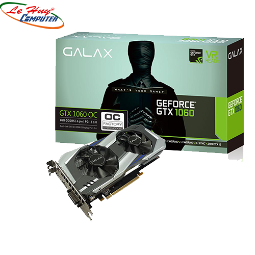 Card Màn Hình - VGA GALAXY GT X 1060 OC 3G(2 FAN)