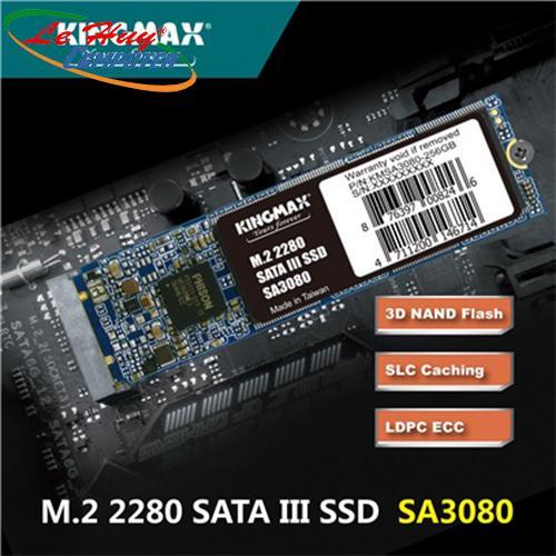 Ổ Cứng SSD Kingmax SA3080 256Gb M2 2280 Sata 3