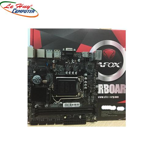 Bo Mạch Chủ - Mainboard AFox H61MA5-V2/1155(VGA/HDM) LAN 1G