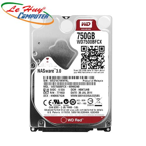 HDD - Ổ Cứng Laptop Western 750Gb SATA (6Gb/s) -7200 Rpm RED