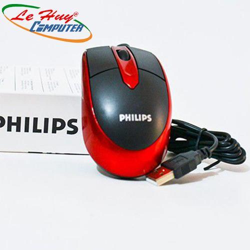Chuột máy tính Phillp Màu Đỏ/Đen Loại USB hàng xịn